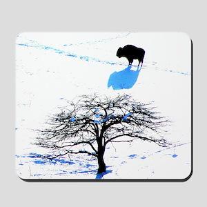 Winter Buffalo Mousepad