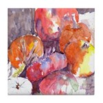 Pumpkins in the Yard Tile Coaster