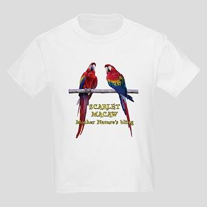Macaw Bling Kids Light T-Shirt