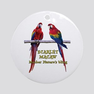 Macaw Bling Ornament (Round)