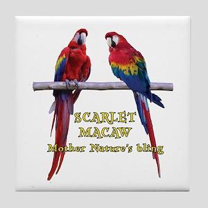 Macaw Bling Tile Coaster