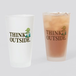 Think Outside Drinking Glass
