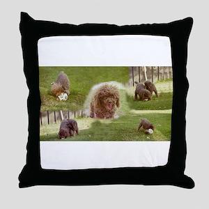 Poodle Town Throw Pillow