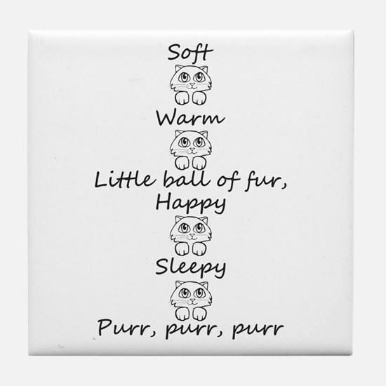 Soft Kitty Tile Coaster