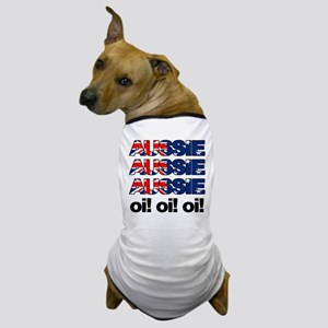 Aussie Aussie Aussie Oi! Oi! Dog T-Shirt