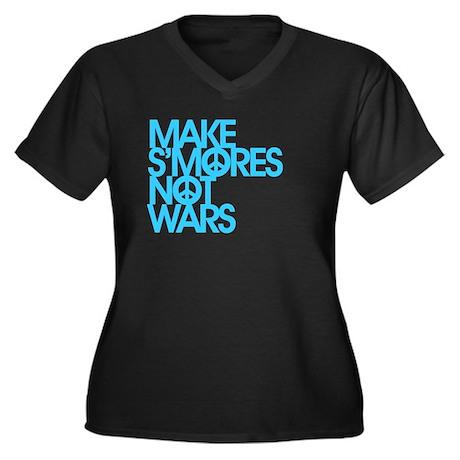 Make S'Mores Not Wars Women's Plus Size V-Neck Dar