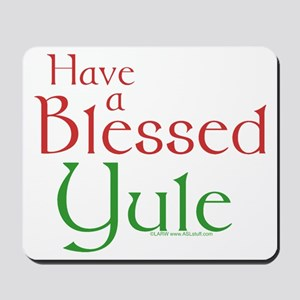Blessed Yule Mousepad