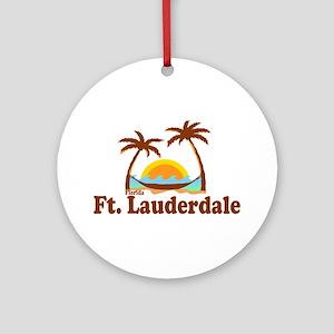 Fort Lauderdale FL. Ornament (Round)