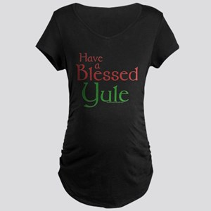 Blessed Yule Maternity Dark T-Shirt