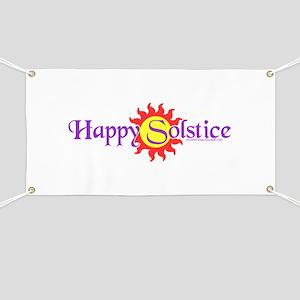 Happy Solstice Banner