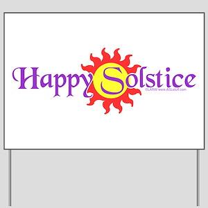 Happy Solstice Yard Sign