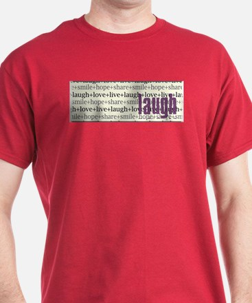 LAUGH Inspirational Collage T-Shirt