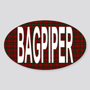 Bagpiper Oval Sticker
