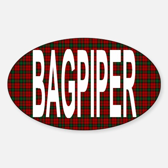 Bagpiper Oval Decal