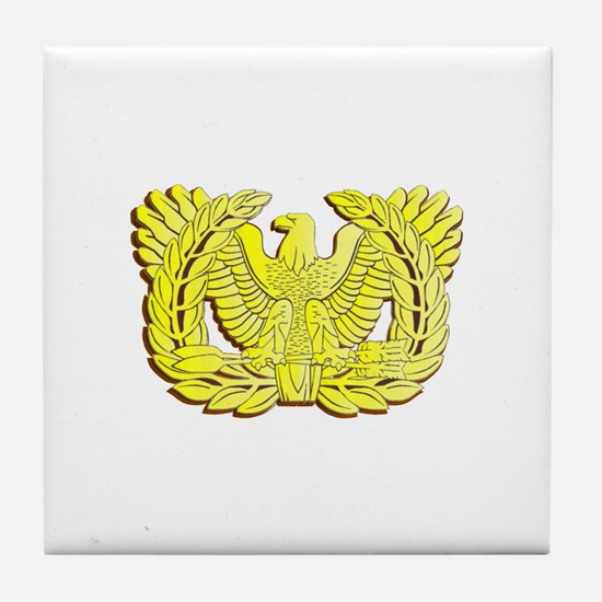 Cute Army officer Tile Coaster