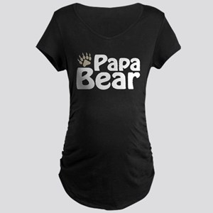Papa Bear Claw Maternity Dark T-Shirt