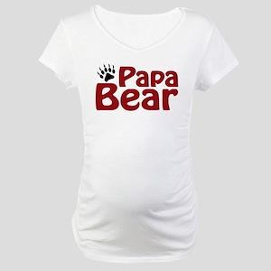 Papa Bear Claw Maternity T-Shirt