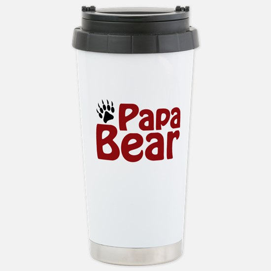 Papa Bear Claw Stainless Steel Travel Mug