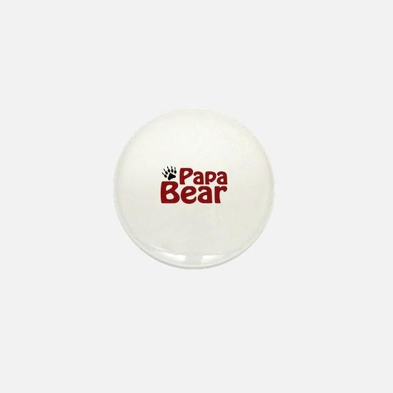 Papa Bear Claw Mini Button