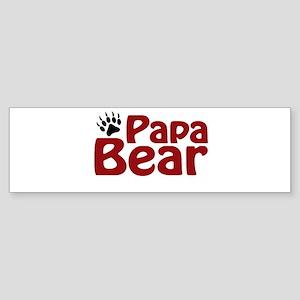 Papa Bear Claw Bumper Sticker
