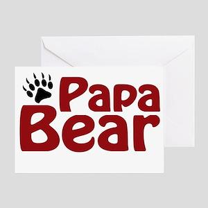 Papa Bear Claw Greeting Card