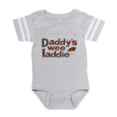 Daddy's Wee Laddie Baby Football Bodysuit