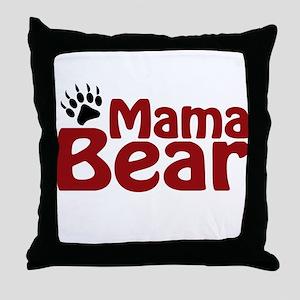Mama Bear Claw Throw Pillow