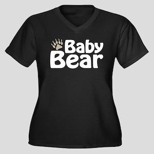 Baby Bear Claw Women's Plus Size V-Neck Dark T-Shi