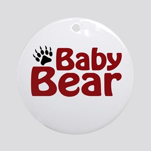 Baby Bear Claw Ornament (Round)