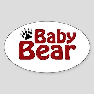Baby Bear Claw Oval Sticker