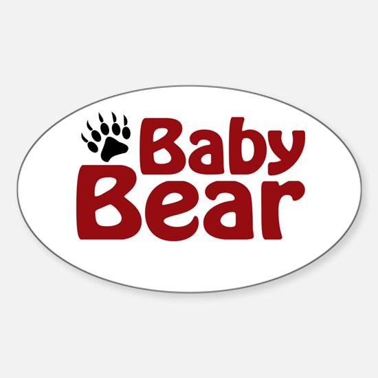 Baby Bear Claw Oval Decal