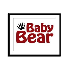 Baby Bear Claw Framed Panel Print