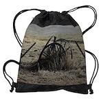 Wagon Wheel Morning Drawstring Bag