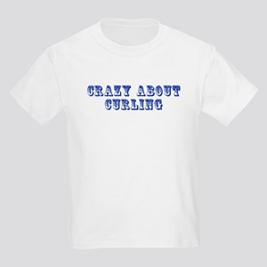 Crazy about Curling Kids Light T-Shirt