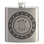 The HVAC Jerks logo Flask