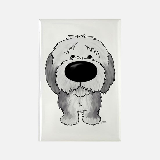 Big Nose Sheepdog Rectangle Magnet