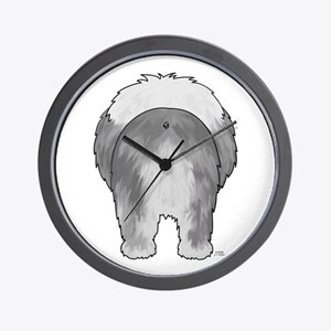 Big Butt Sheepdog Wall Clock