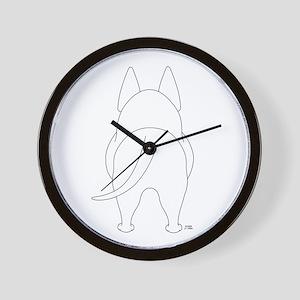 Big Butt Bull Terrier Wall Clock