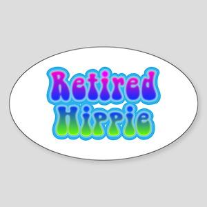 Retired Hippie Oval Sticker
