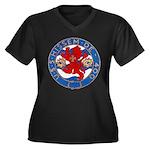USS HISSEM Women's Plus Size V-Neck Dark T-Shirt