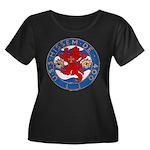 USS HISS Women's Plus Size Scoop Neck Dark T-Shirt