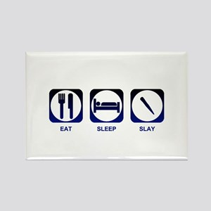 Eat Sleep Slay Rectangle Magnet