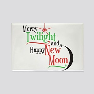 Twilight New Moon Christmas Rectangle Magnet