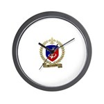 BOUDREAU Family Crest Wall Clock