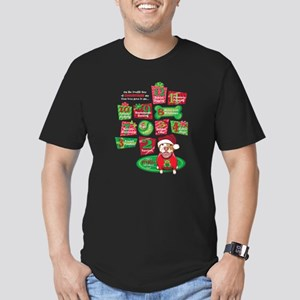 12 Dogs of Christmas Men's Fitted T-Shirt (dark)