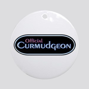 Official Curmudgeon Ornament (Round)
