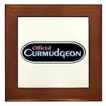Official Curmudgeon Framed Tile