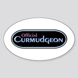 Official Curmudgeon Oval Sticker