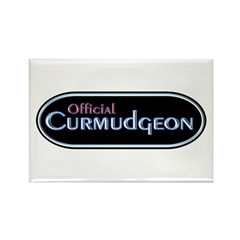 Official Curmudgeon Rectangle Magnet