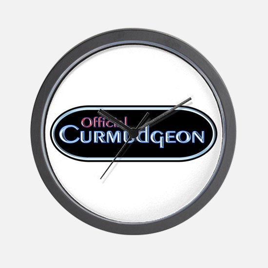 Official Curmudgeon Wall Clock